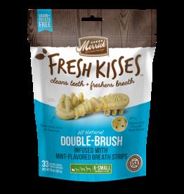 Merrick Fresh Kisses Double-Brush with Mint Breath Strips XS 20ct