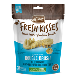 Merrick Fresh Kisses Double-Brush with Mint Breath Strips 33ct