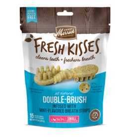 Merrick Fresh Kisses Double-Brush with Mint Breath Strips Small 15ct
