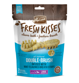 Merrick Fresh Kisses Double-Brush with Mint Breath Strips 4ct