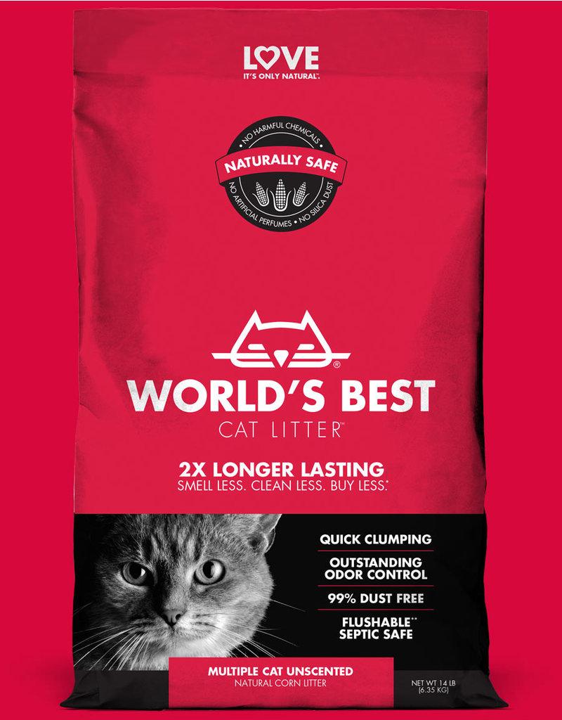 World's Best Cat Litter Multi-Cat Clumping Red  28lb