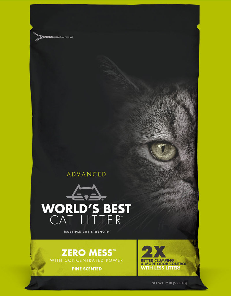 World's Best Cat Litter Advanced Zero Mess Pine Scented 12lb