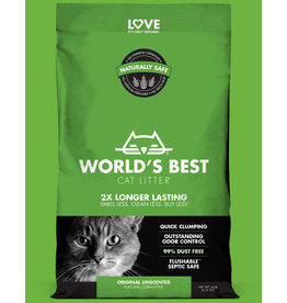 World's Best Cat Litter Original Unscented Clumping 14lb