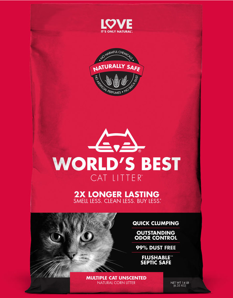 World's Best Cat Litter Multi-Cat Unscented Clumping 7lb