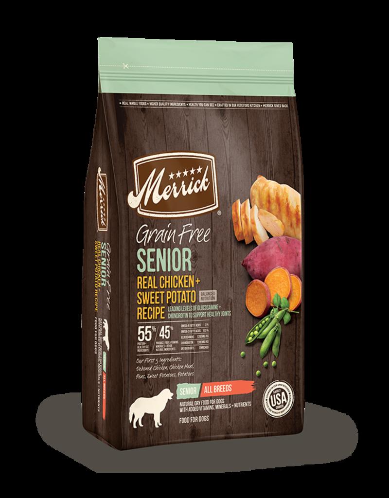 Merrick Grain Free Senior Chicken & Sweet Potato 22lb
