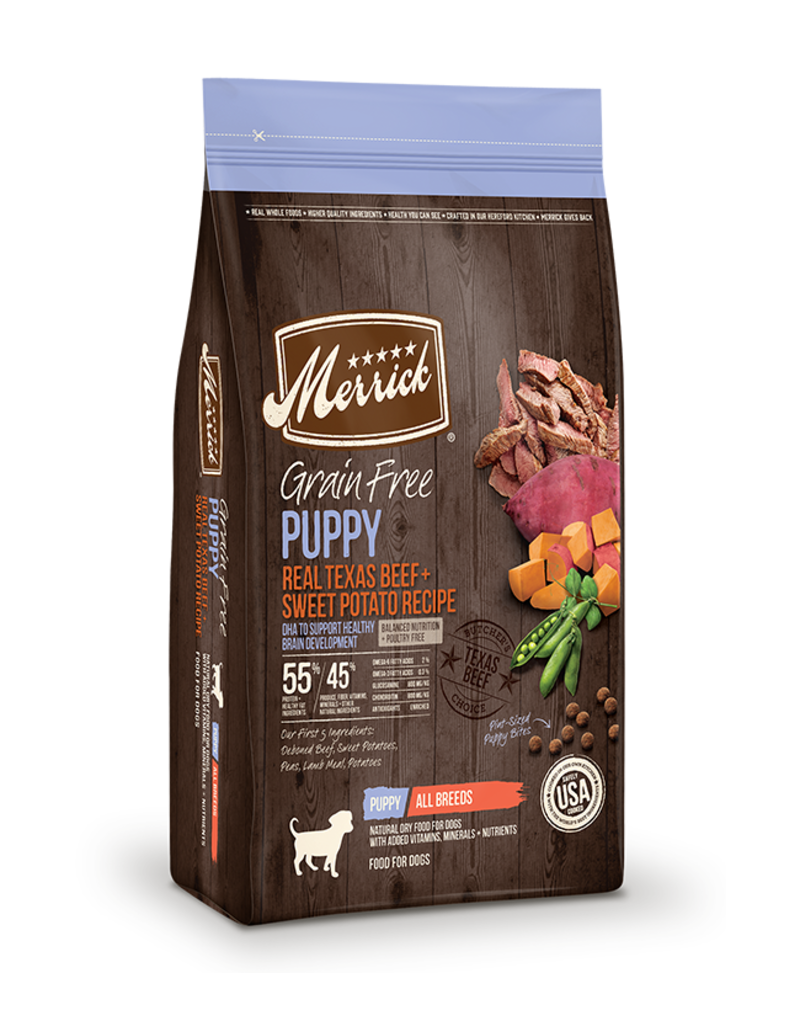 Merrick Grain Free Puppy Beef & Sweet Potato 4lb
