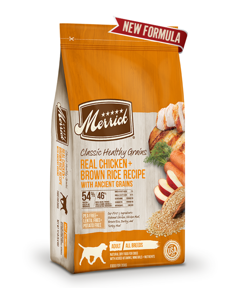 Merrick Classic Healthy Grains Chicken & Brown Rice 12lb
