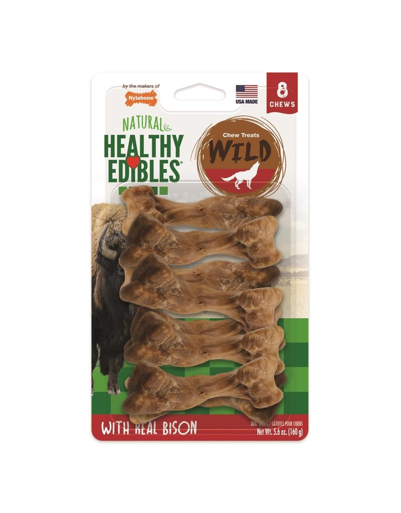 Nylabone Healthy Edibles Wild Bison Small 8ct
