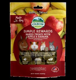 Oxbow Simple Rewards Baked Treats with Apple & Banana 3oz