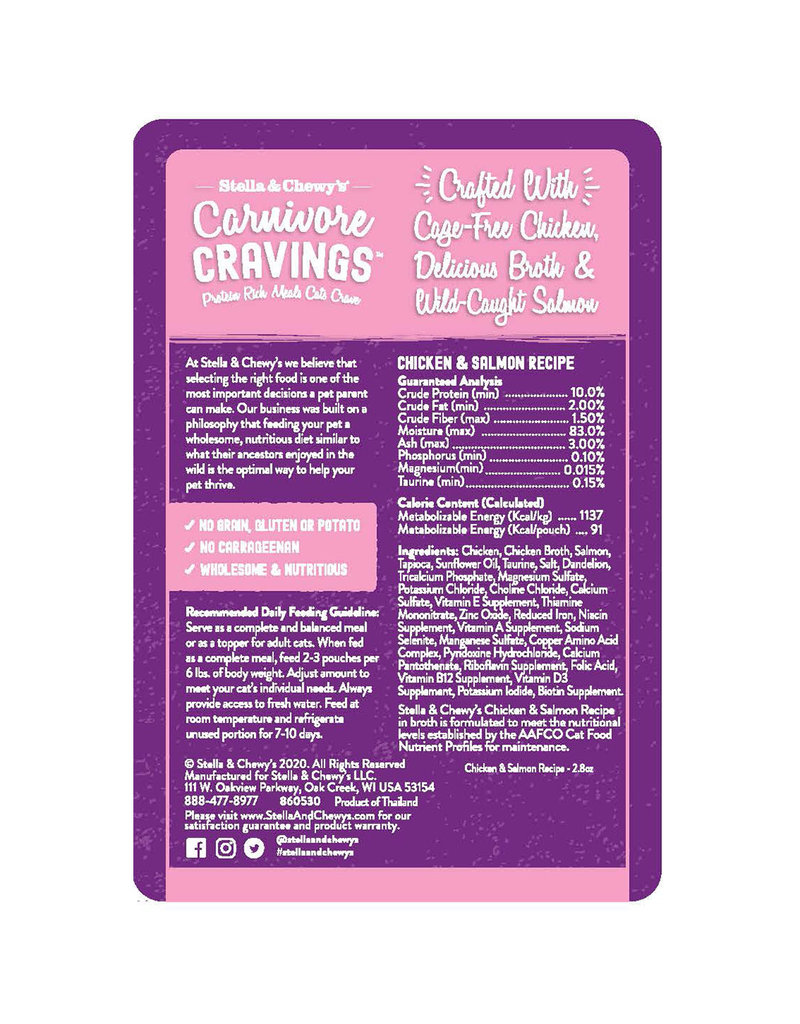 Stella & Chewy's Carnivore Cravings Chicken & Salmon 2.8oz