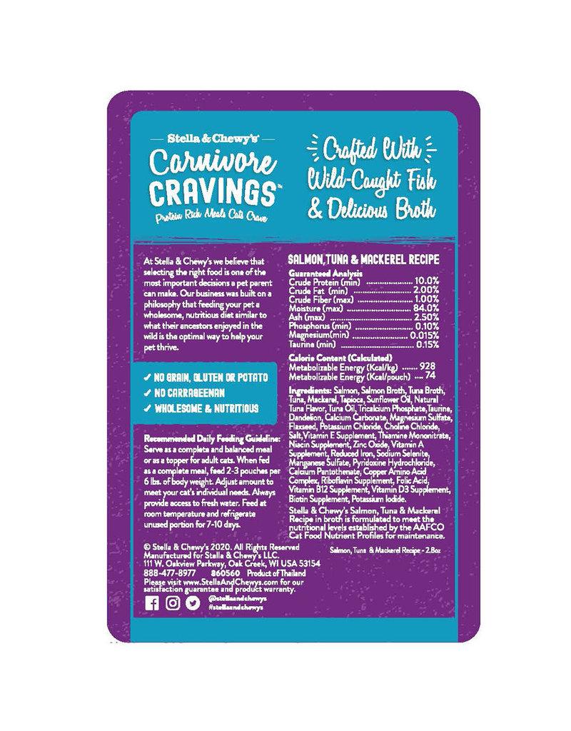 Stella & Chewy's Carnivore Cravings Salmon Tuna & Mackerel 2.8oz