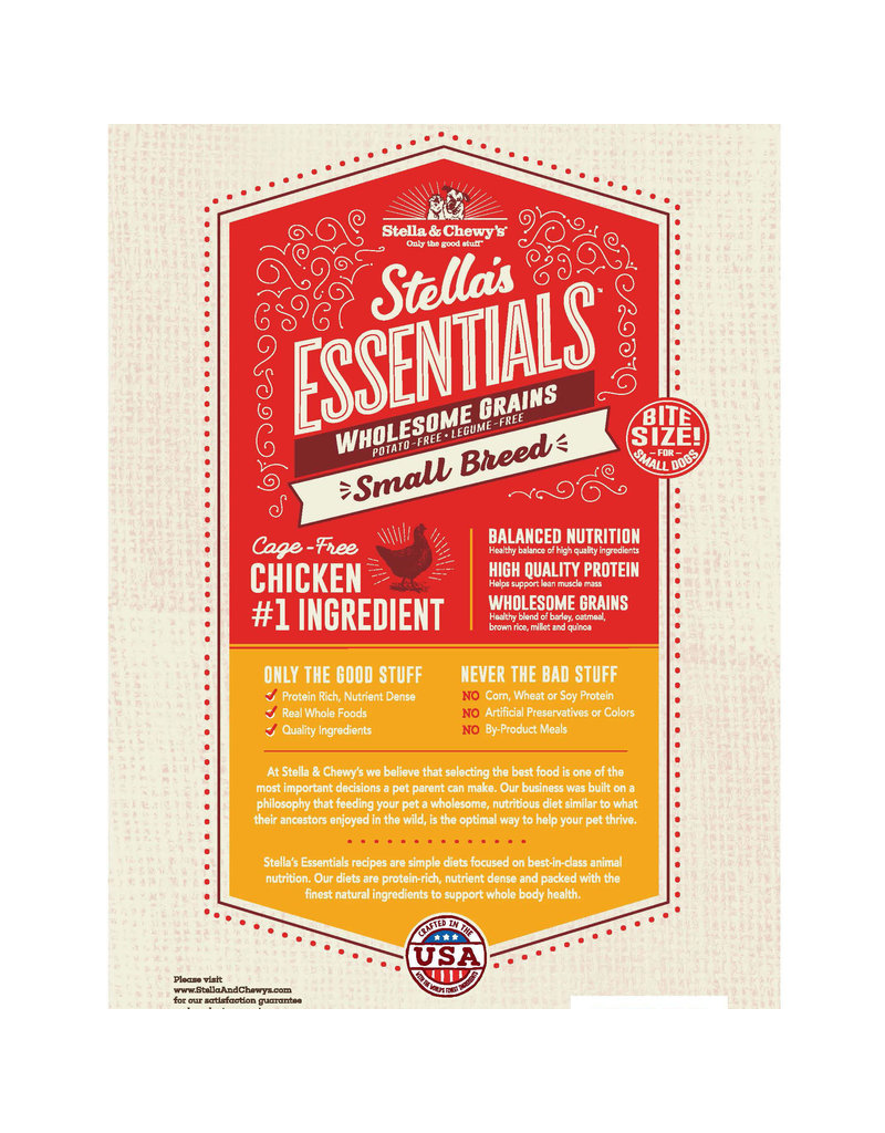 Stella & Chewy's Essentials Cage-Free Chicken & Ancient Grains Small Breed 3lb