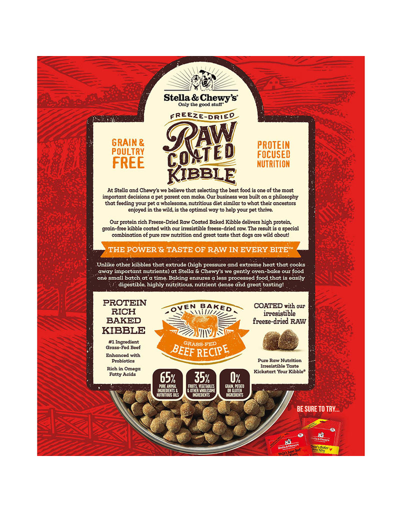 Stella & Chewy's Raw Coated Grass Fed Beef Recipe 3.5lb
