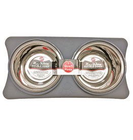 Ethical Pet New Wave Double Diner Gray 1pt