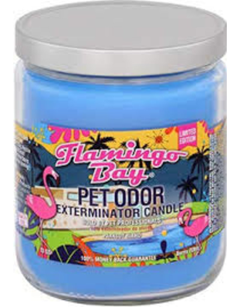 Specialty Pet Products Odor Exterminator Candle Flamingo Bay