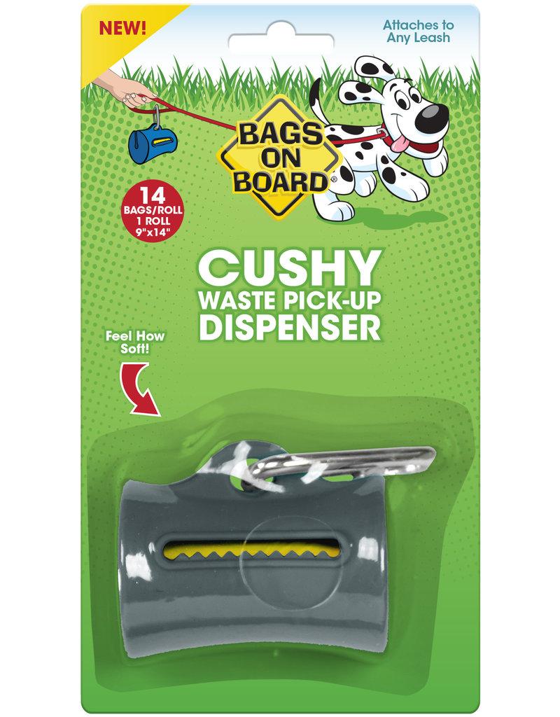 Bags on Board Poop Bag Dispenser with 14 Bags - Cushy Gray