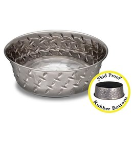 Loving Pets Diamond Plated Stainless Steel Bowl 3qt