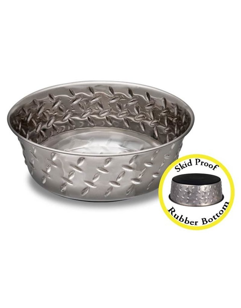 Loving Pets Diamond Plated Stainless Steel Bowl 1qt