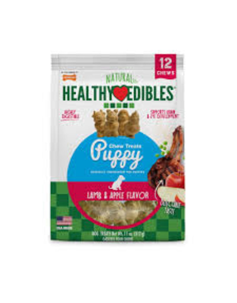 Nylabone Healthy Edibles Puppy Lamb & Apple Chews 15ct