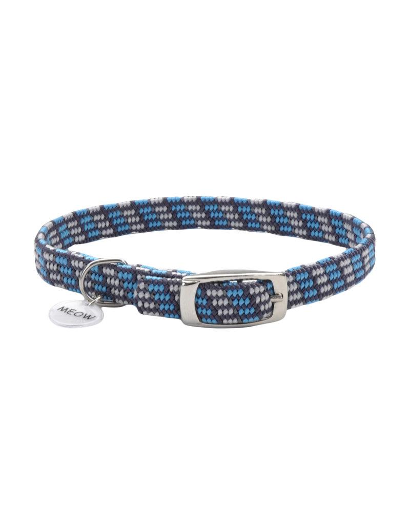 "Coastal Cat Collar Reflective Grey with Blue 5/16""W 8""L"