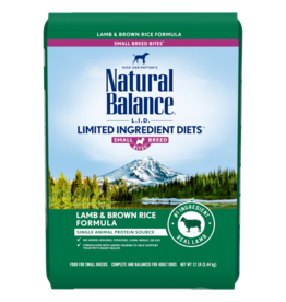 Natural Balance Dog Lamb & Brown Rice LID Small Breed 12lb