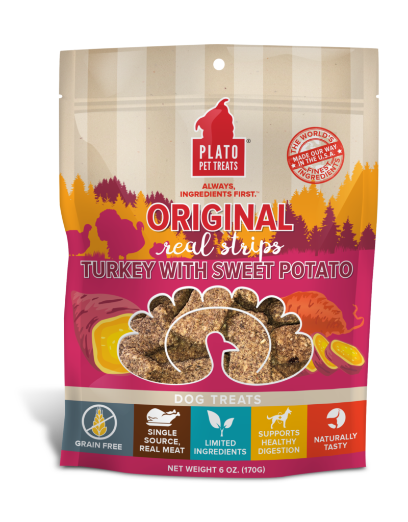 Plato Original Real Strips Turkey & Sweet Potato 3oz
