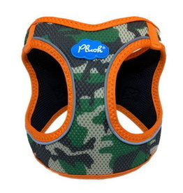 Plush Harness Camo Orange Large