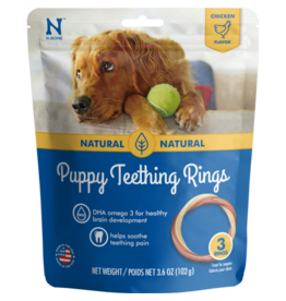 N-Bone Puppy Teething Rings Chicken 3pk