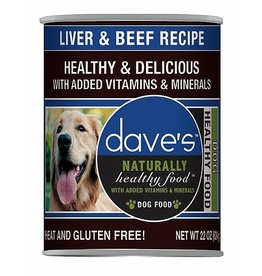 Dave's Naturally Healthy Liver & Beef 22oz