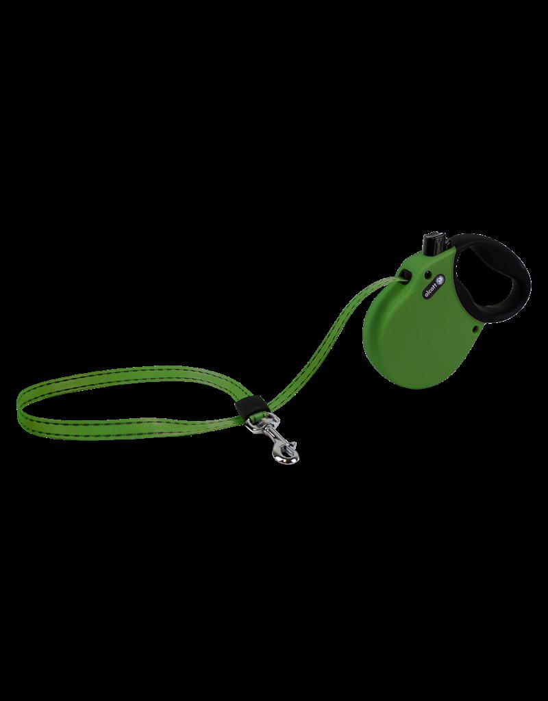 Alcott Adventure Retractable Leash Green Medium