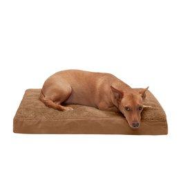FurHaven Deluxe Mattress Bed - Medium - Terry & Suede - Camel