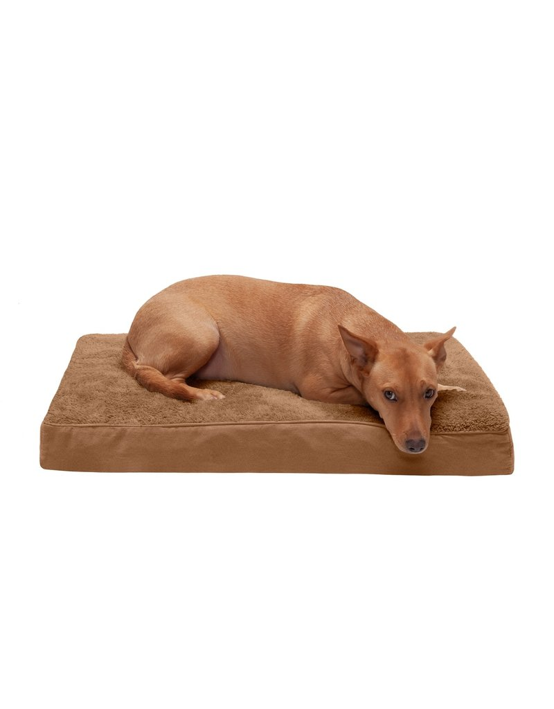 FurHaven Deluxe Mattress Bed - Medium - Terry & Suede - Camel