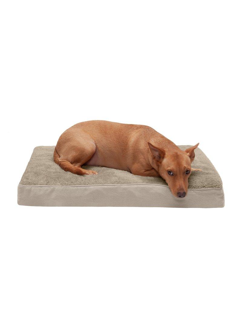 FurHaven Deluxe Mattress Bed - Medium - Terry & Suede - Clay