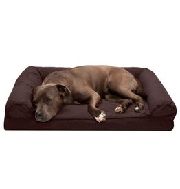 FurHaven Quilted Sofa Bed - Large - Coffee