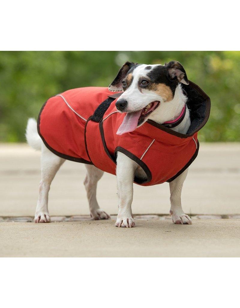 Fits Riding Dog Coat Berry Orange Medium