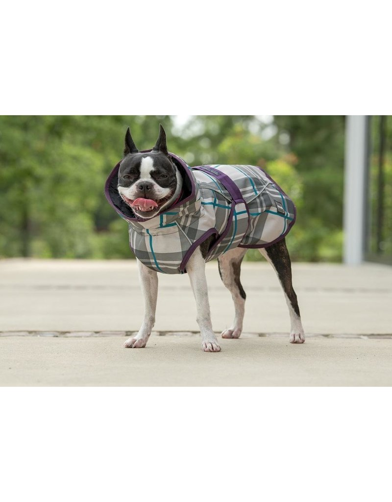 Fits Riding Dog Coat Petrol Plaid Large