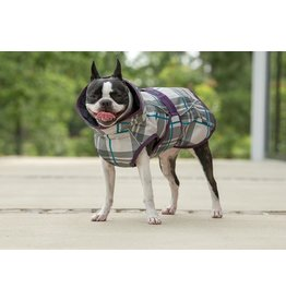Fits Riding Dog Coat Petrol Plaid XS