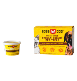 Boss dog Frozen Yogurt Peanut Butter & Banana 4 Pack