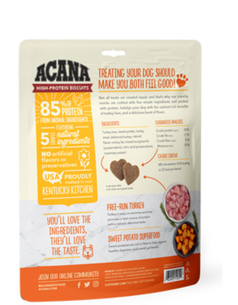 Acana High Protein Biscuits Turkey Liver 9oz