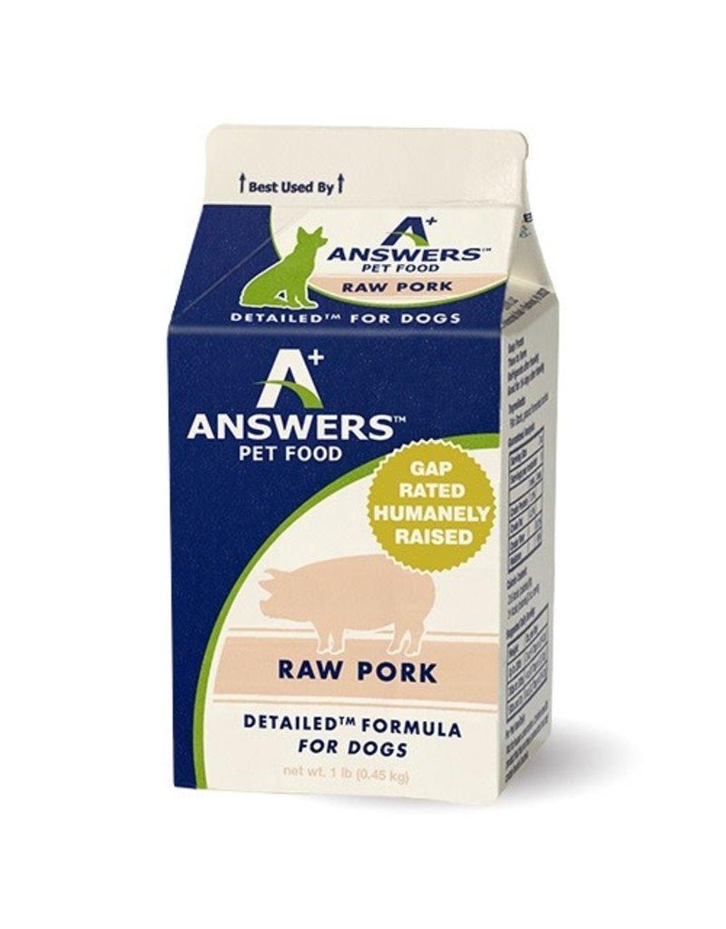 Answers Detailed Raw Pork