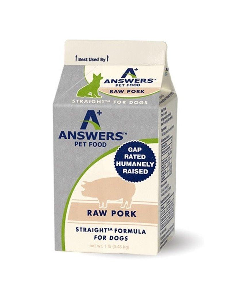 Answers Straight Raw Pork