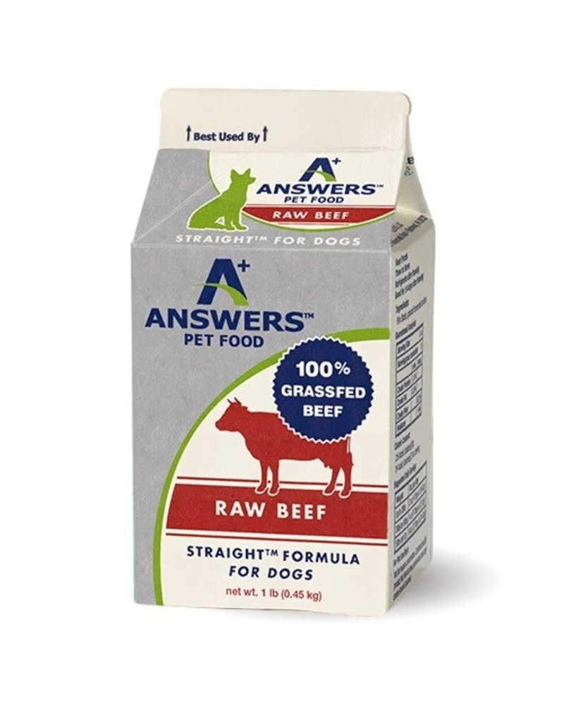 Answers Straight Raw Beef