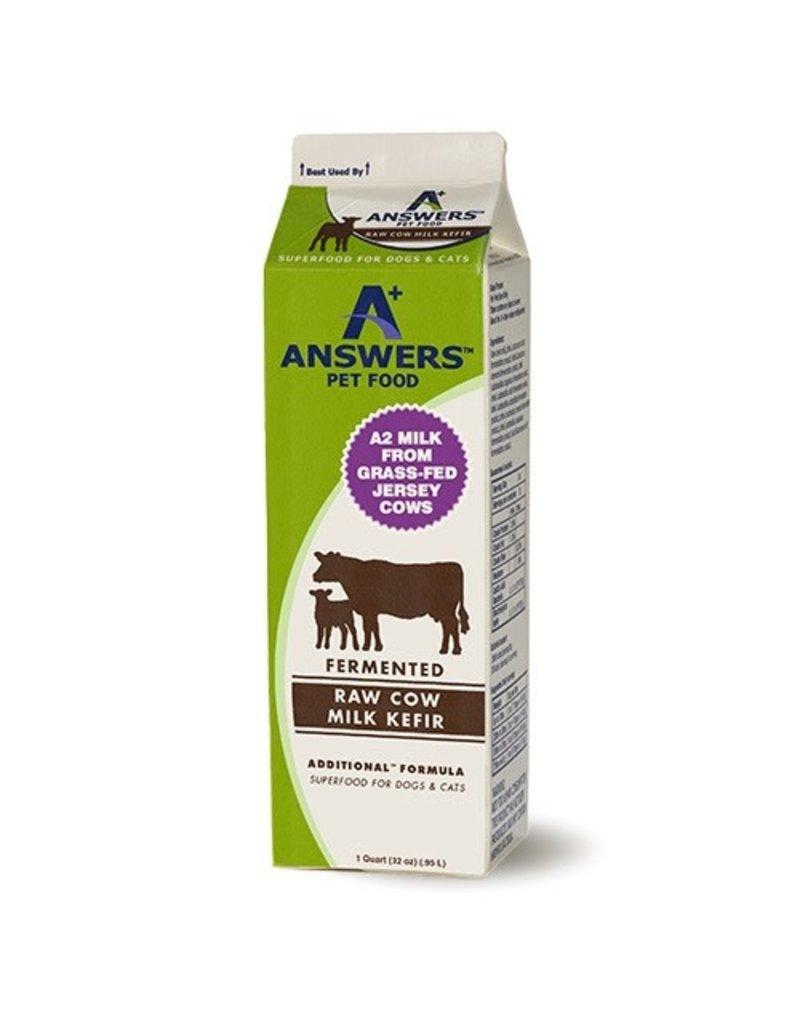 Answers Additional Fermented Raw Cow Milk Kefir