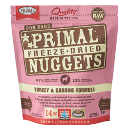 Primal Freeze-Dried Nuggets Turkey & Sardine