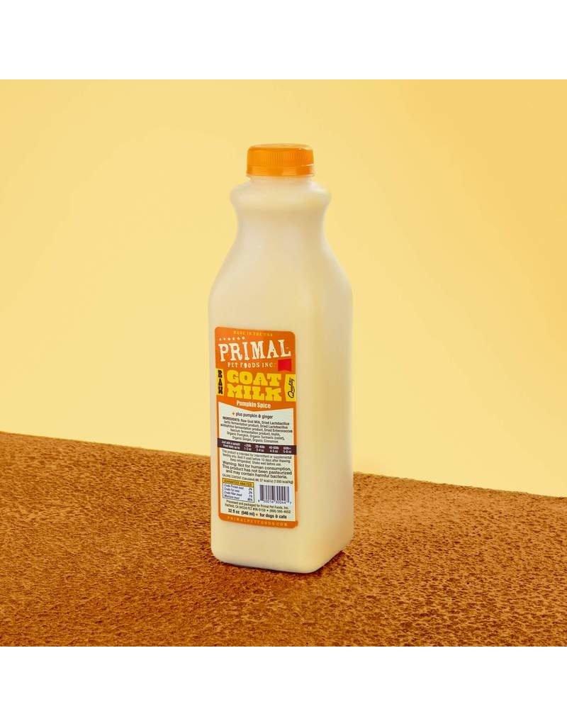 Primal Raw Pumpkin Goat Milk  Quart - 32oz