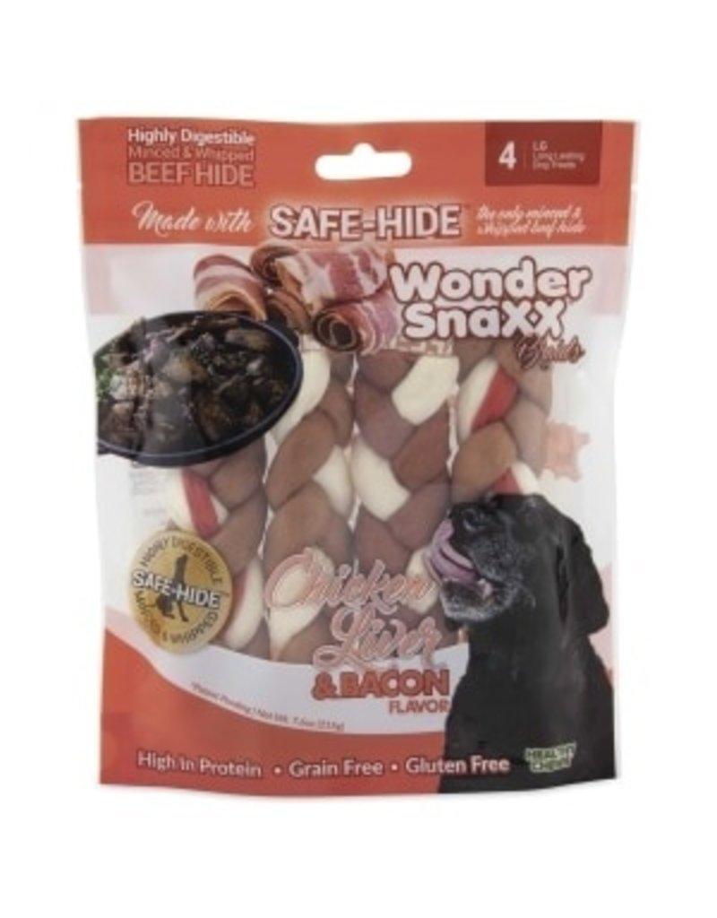 WonderSnaxx Chicken Liver & Bacon Braid
