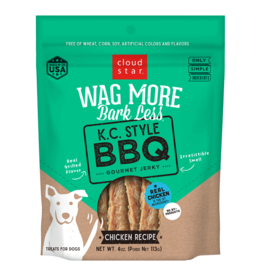 Cloud Star Wag More Jerky KC Style BBQ  10oz