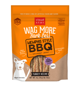Cloud Star Wag More Jerky Memphis Style BBQ 10oz