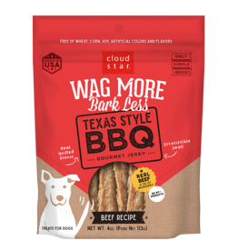 Cloud Star Wag More Jerky Texas Style BBQ 10oz