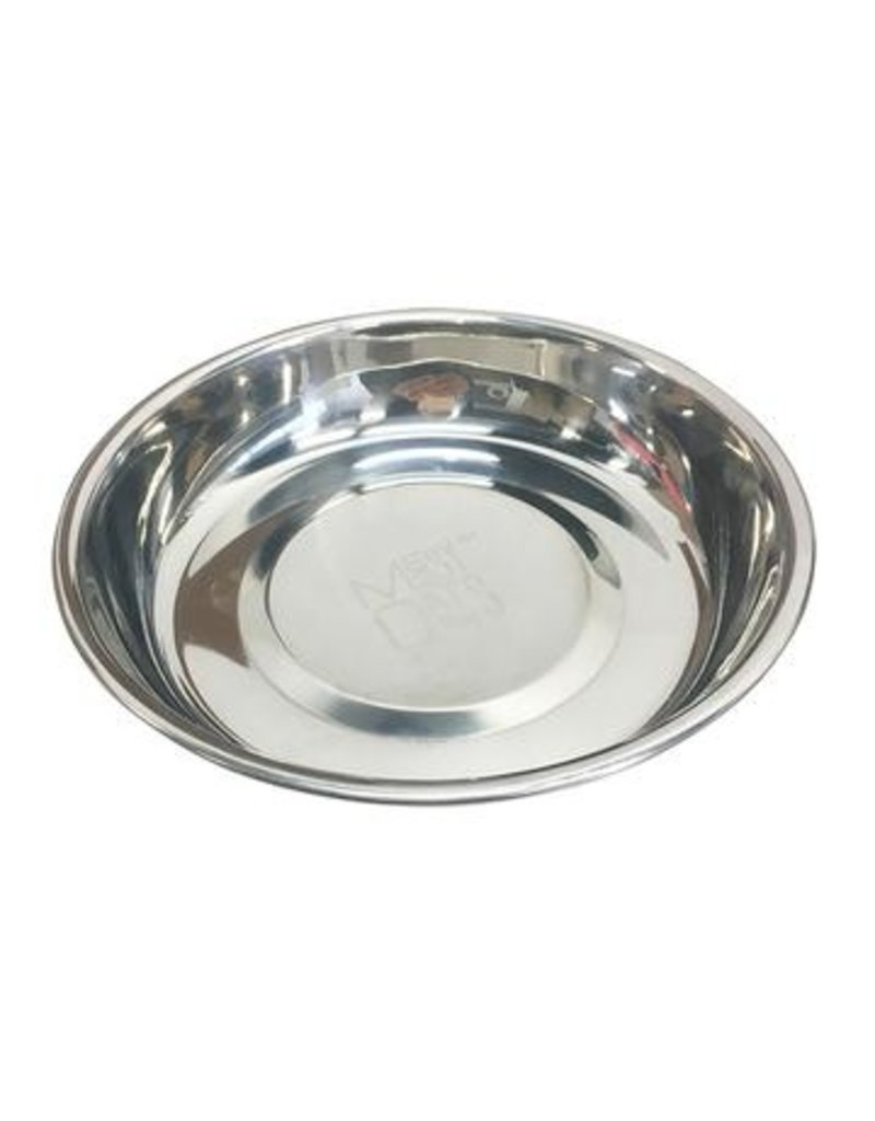 Messy Mutts Stainless Steel Saucer Bowl